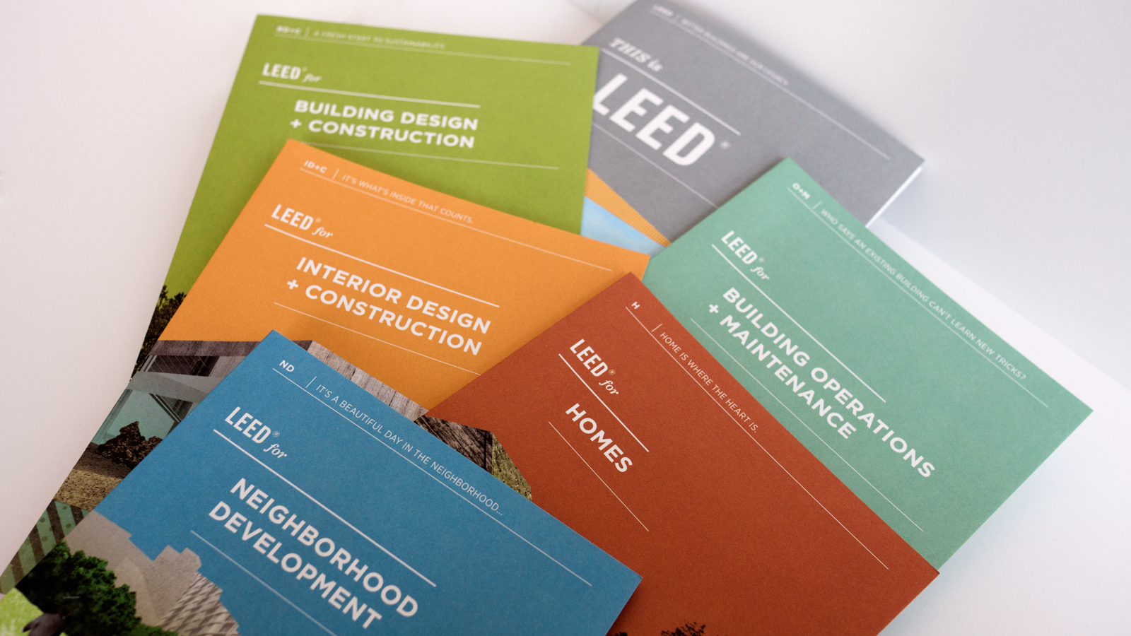 LEED Collateral Stacked